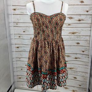 American Rag sundress full skirt pockets Southwest